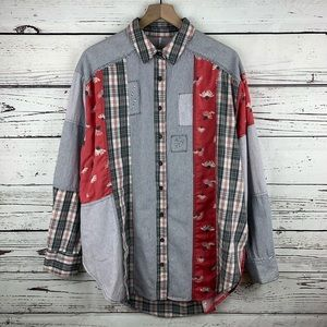 Free People All Patched Up Classic Buttondown
